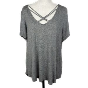Rags to Riches 1X Gray Top